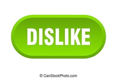 dislike button. rounded sign on white background