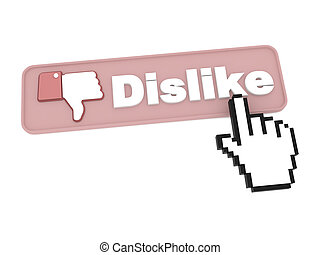 Dislike Button - Social Media Concept.