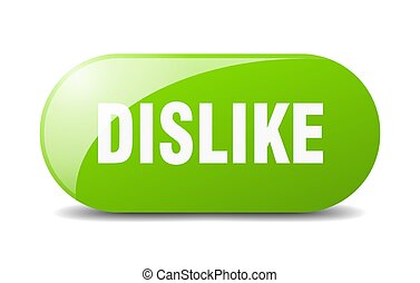 dislike button. sticker. banner. rounded glass sign