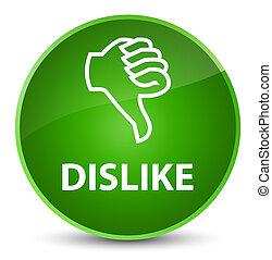Dislike elegant green round button