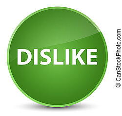 Dislike elegant soft green round button