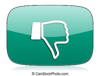 dislike green icon thumb down sign