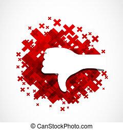 dislike hand concept