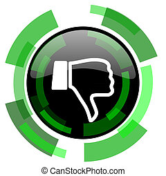 dislike icon, green modern design isolated button, web and mobile app design illustration