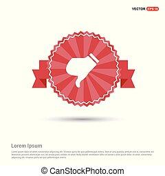 dislike icon - Red Ribbon banner