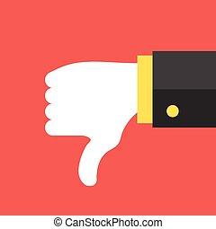 Dislike icon. Social network dislike