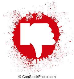dislike in the form of spray. Vector illustration