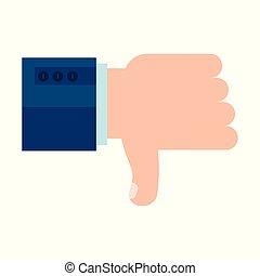 dislike man hand
