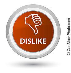 Dislike prime brown round button