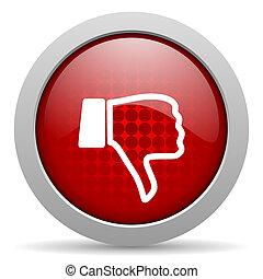 dislike red circle web glossy icon