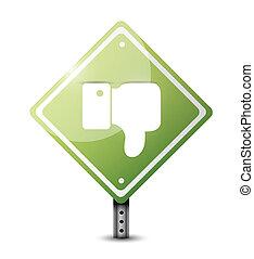 dislike road sign illustration design