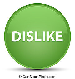 Dislike special soft green round button