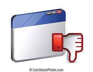 Dislike web site Icon. Thumb down Sign illustration design