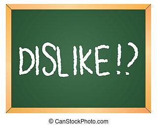 dislike word on chalkboard
