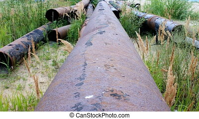 Dismantle pipeline. Pipe removed and left to rust. Wasteful...