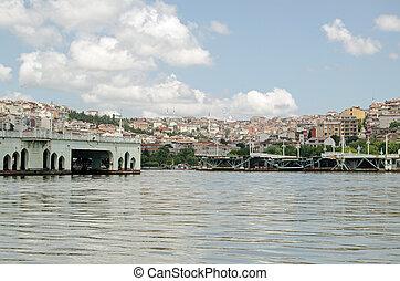 Dismantled bridge, Golden Horn, Istanbul