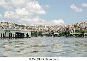 Dismantled bridge, Golden Horn, Istanbul
