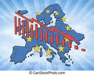 disminución, europeo