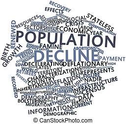 disminución, población