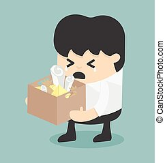 Dismissal. Business illustration