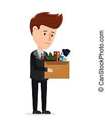 Dismissal frustrated concept. Business man