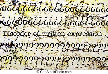 DIsorder of written expression
