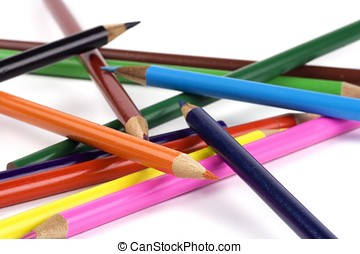 Disorderly Colored Pencil - Some colored pencil disorderly...