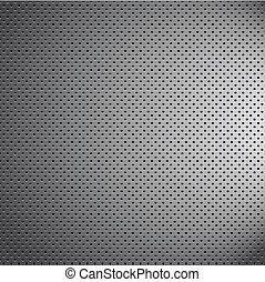disordine, cromo, metallo, modello, struttura, griglia, carbonio