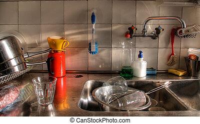 disordine, cucina