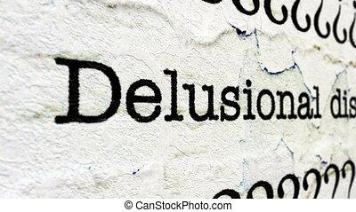 disordine,  delusional