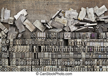 metal letterpress printing blocks