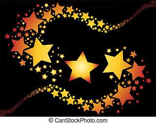 disparando estrellas