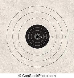 disparar, exatidão, foco, alvo