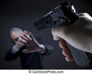 disparar, ponto