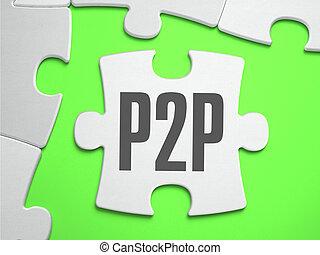 disparu, puzzle, puzzle, -, pieces., p2p