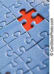 disparu, résumé, une, fond, morceau, puzzle