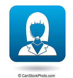 Dispatcher icon in flat style