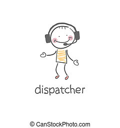 dispatcher., illustration.