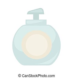 Dispenser with soap - Vector illustration of minimal soap...