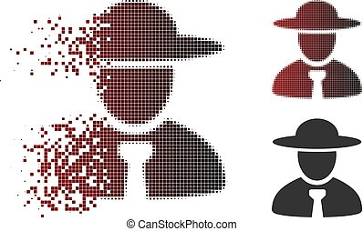 Dispersed Dotted Halftone Boss Icon
