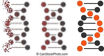 Dispersed Pixel Halftone Dna Molecule Icon