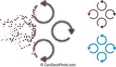 Dispersed Pixel Halftone Rotation Icon