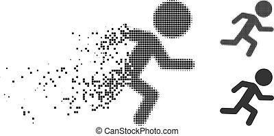 Dispersed Pixel Halftone Running Child Icon