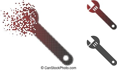 Dispersed Pixel Halftone Spanner Icon