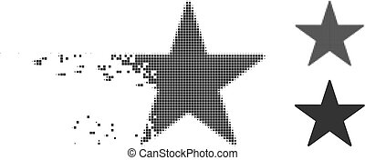 Dispersed Pixel Halftone Star Icon