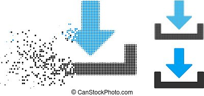 Dispersed Pixelated Halftone Download Icon - Download icon ...