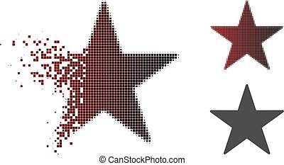 Dispersed Pixelated Halftone Star Icon