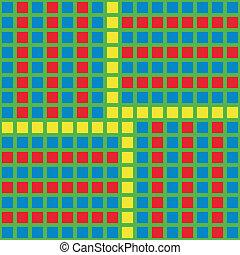 displace., パターン, 明るい, ブロック, 寄せ木張りの床