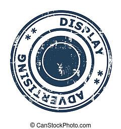 Display advertising concept stamp