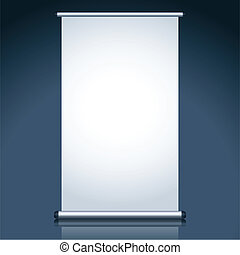 Display Board - illustration of display board with stand on...